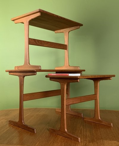 Vintage nesting tables by Kai Kristiansen, 1960s