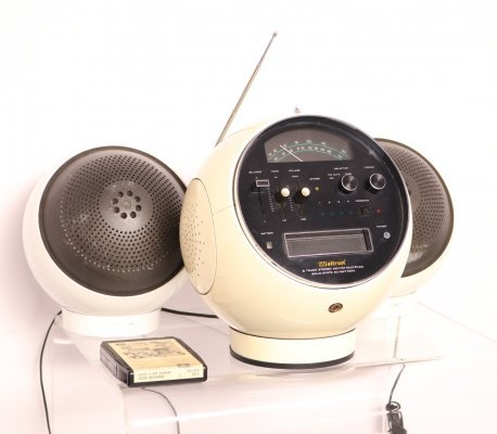 Space ball radio & cassette by Weltron, Japan 1970's