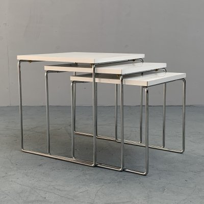White nesting tables from Brabantia, Netherlands 1960s