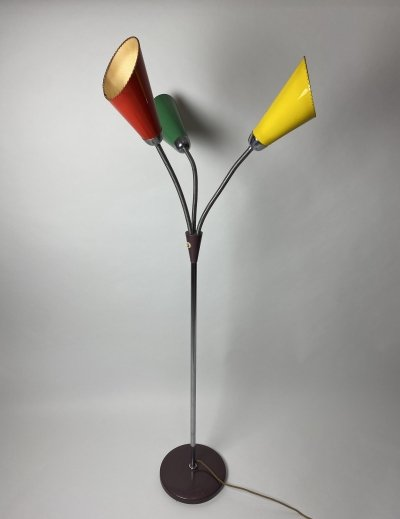 Tricolored floor lamp, 1960s