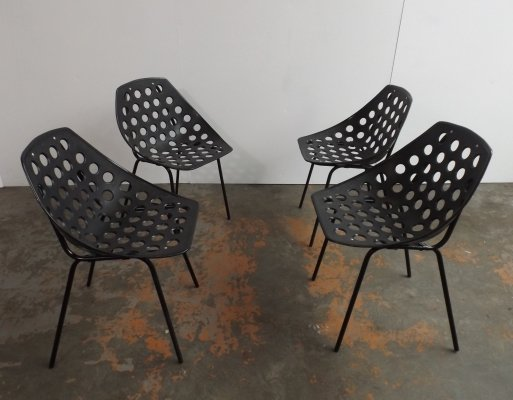 Set of 4 Deauville dining chairs by Pierre Guariche for Meurop, 1960s