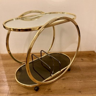Side table with mirrored glass, 1960s