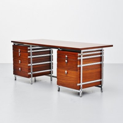 Jules Wabbes writing desk by Le Mobilier Universel, Belgium 1960