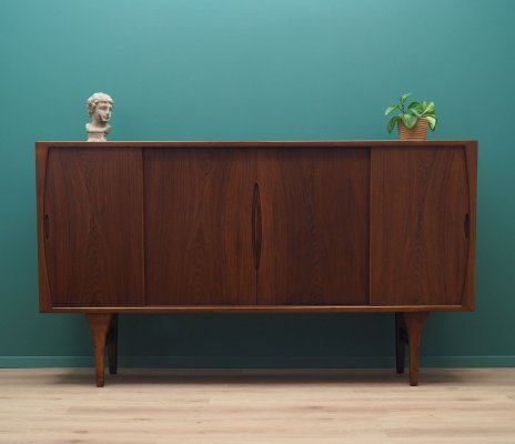 Rosewood highboard by Henning Kjærnulf for Bruno Hansen, 1960s