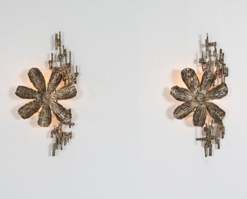 Brutalist Sconces by Salvino Marsura, Italy 1970's