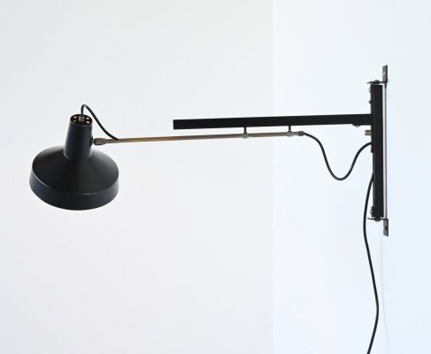 Niek Hiemstra telescope wall lamp by Hiemstra Evolux, The Netherlands 1960