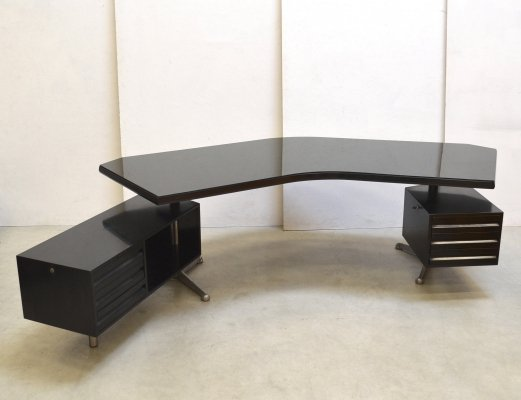 T96 Boomerang writing desk by Osvaldo Borsani for Tecno, 1970s