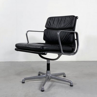 Desk Chair EA208 Soft Pad by Charles & Ray Eames for ICF, 1970s