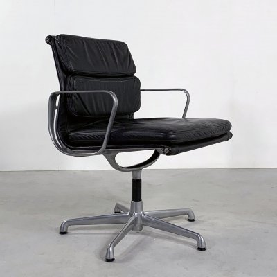 Swivel Desk Chair EA208 Soft Pad by Charles & Ray Eames for ICF, 1970s