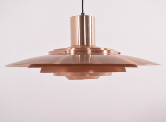 Giant Copper Ceiling Light P700 by Kastholm & Fabricius for Nordisk Solar, 1964