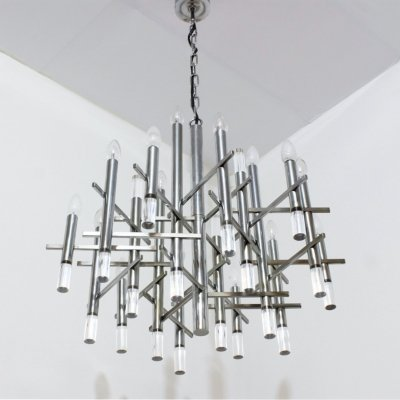 Gaetano Sciolari chandelier with 15 lights, 1970s