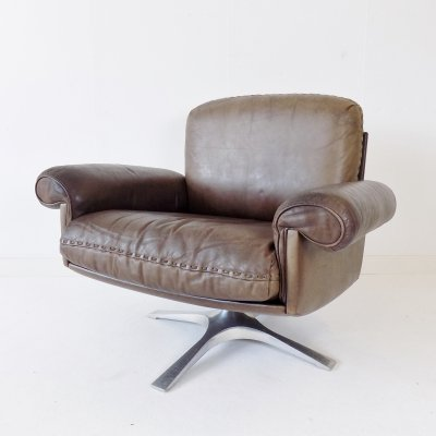 Brown leather DS 31 armchair by De Sede