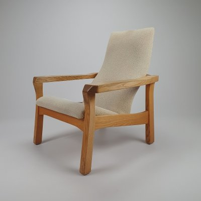 Mid Century Oak Anthroposohical Lounge Chair, 1960s