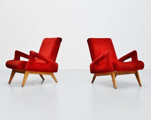 Pair of lounge chairs, France 1950