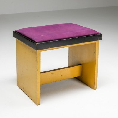 Modernist stool by Hendrik Wouda, 1924