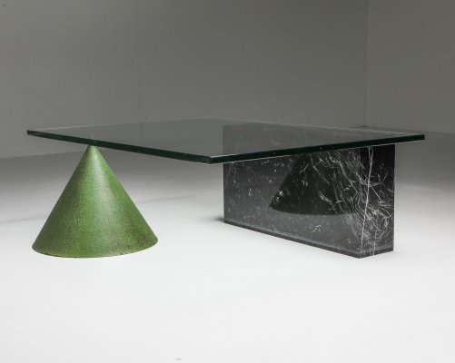 Vignelli Marble & Copper 'Kono' Coffee Table, 1985