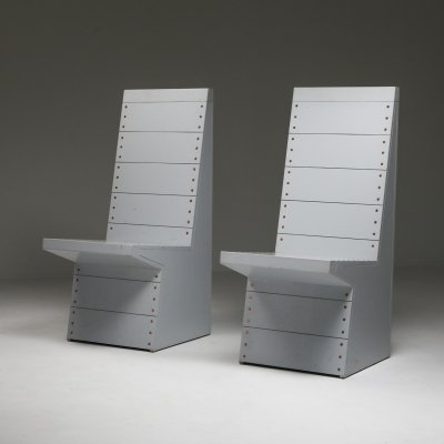 Dom Hans van der Laan chairs by his apprentice Jan de Jong, 1980s