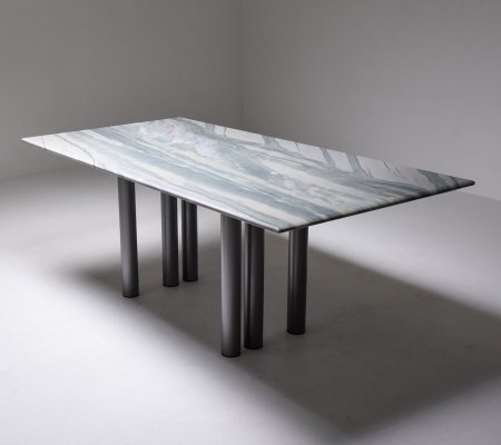 Grey & Purple Marble Dining Table by Pia Manu, 1990s