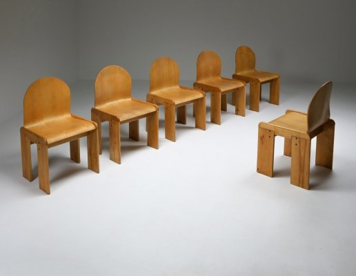 Plywood Dining Chairs by Afra & Tobia Scarpa, 1970s
