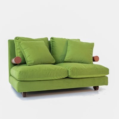 B&B Italia 'Baisity' Sofa by Antonio Citterio in green velvet, 1980s