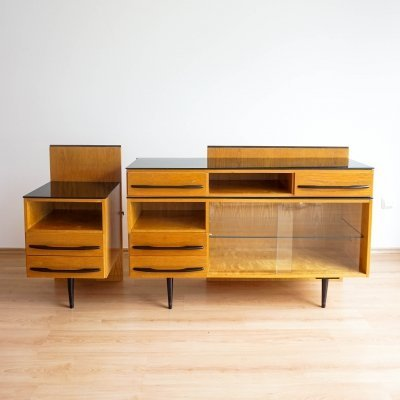 Modular sideboard & cabinet by Mojmir Pozar for UP Závody, 1960s