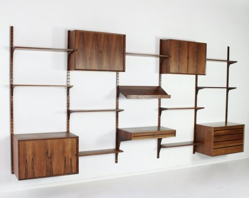 Rare xxl modular wall unit by Poul Cadovius for Cado Denmark
