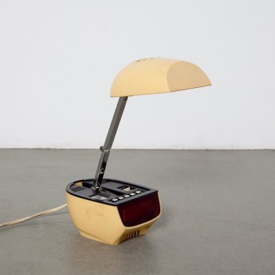 Table Lamp with Alarm Clock from Timco