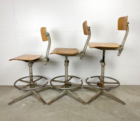 3 x drafting stool by Friso Kramer for Ahrend de Cirkel, 1960s