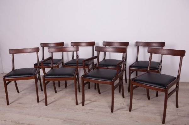 Set of 8 Danish Dining Chairs by Ole Wanscher for Poul Jeppesens Møbelfabrik, 1960s