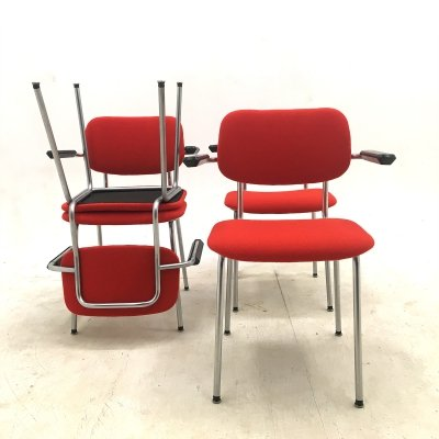 Set of Gispen Cirrus 1235 industrial dining chairs by André Cordemeyer