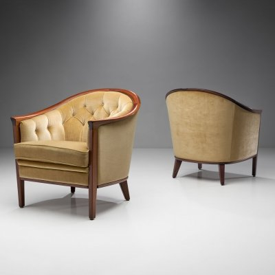 Bertil Fridhagen Pair of 'Aristokrat' Armchairs, Sweden 1963