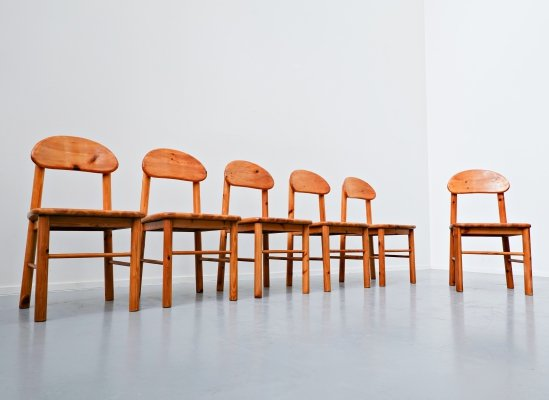 Set Of 6 Pitchpin Chairs by Rainer Daumiller, 1970s