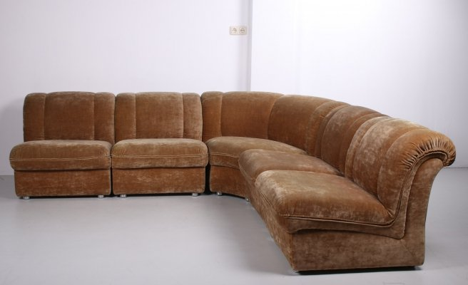Vintage beige modular sofa with 5 elements, 1960s