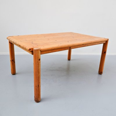 Extendable Pitchpin Dining Table by Rainer Daumiller, 1970s