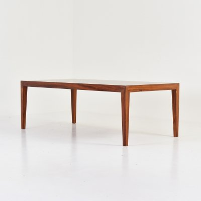 Rosewood coffee table by Severin Hansen for Haslev, Denmark 1960's