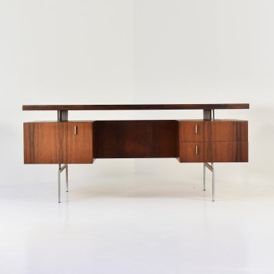 Executive desk in rosewood, 1950's