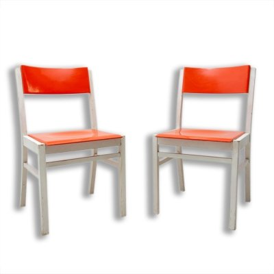 Pair of Mid century dining chairs by TON, Czechoslovakia 1960s