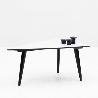 Triangular coffee table by Bovenkamp, Dutch design 1950's