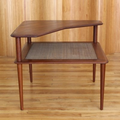 Peter Hvidt & Orla Molgaard-Nielsen teak model 519 corner table for France & Son