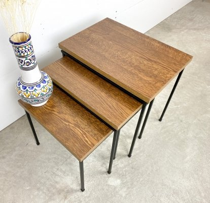 Retro set of 3 side tables, 1960s