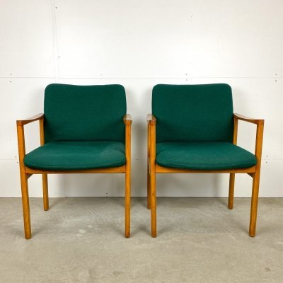 Armchair by Grete Jalk with green upholstery