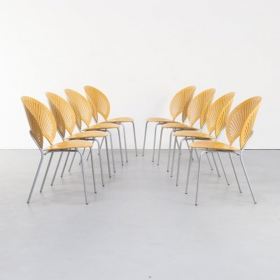 Set of 8 Nanna Ditzel '3298' chairs for Fredericia Stolefabrik, Denmark 1960s