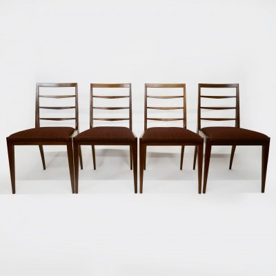 Set of 4 Mid-Century Upholstered Teak Dining Chairs from McIntosh, 1960s
