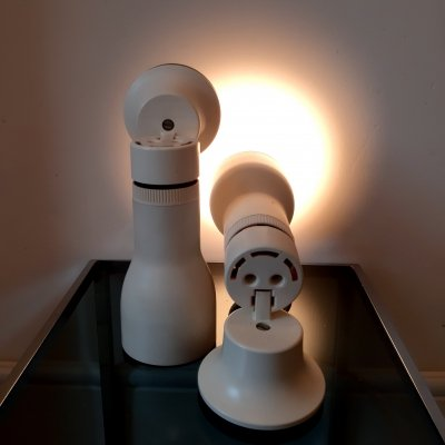 Pair of Philips wall lamps, 1980s