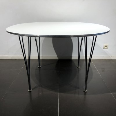 'Super-Circular' Table by Piet Hein & Bruno Mathsson for Fritz Hansen, 1960s