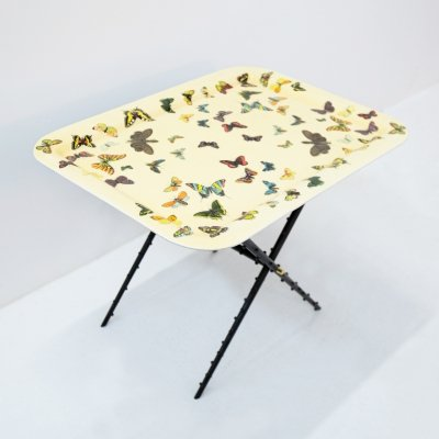 Piero Fornasetti Coffee Table 'Le Farfalle', original label 1950s