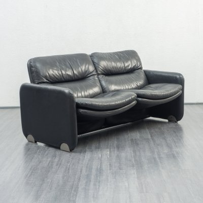 Leather 2-seater Lounge sofa, 1970s