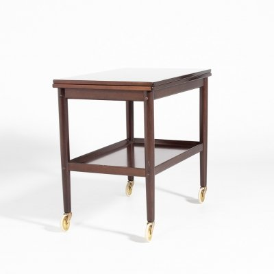 Mahogany side/serving table by Ole Wanscher for P. Jeppensen