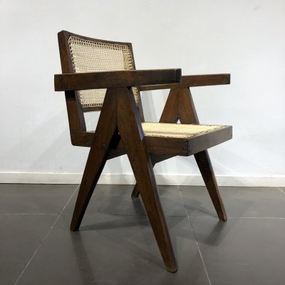 'King' Chair by Pierre Jeanneret for Chandigarh India, 1950s