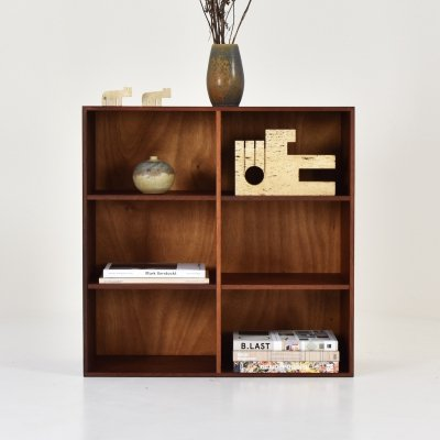 Small wall unit in walnut by ATBO, Denmark 1967
